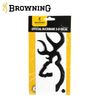Browning 3d Buckmark Black Decal 6 Inch