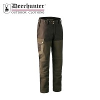 Deerhunter Marseille Leather Trousers Walnut