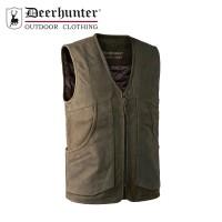 Deerhunter Strasbourg Leather Waistcoat Brown