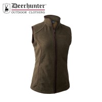 Deerhunter Lady Josephine Fleece Waistcoat Graphite Green