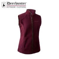 Deerhunter Lady Josephine Fleece Waistcoat Burgendy