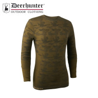 Deerhunter Camou Wool Underwear Shirt Beech Green