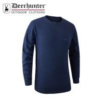 Deerhunter Brighton Knit O Neck Blue Melange