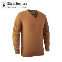 Deerhunter Brighton Knit V Neck Yellow Melange