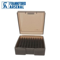 Frankford Arsenal Hinge Top Ammo Box 100 Round Smoke Grey