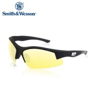 Smith And Wesson Super Cobra Frame Shooting Glasses Black Rubberized Frame