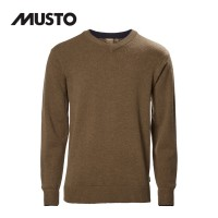 Musto Shooting V Neck Knit Toffee