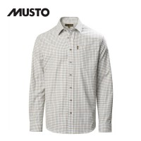 MUSTO CLASSIC TWILL CHECK SHIRT OBAN RED