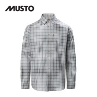Musto Classic Twill Check Shirt Carrick Navy
