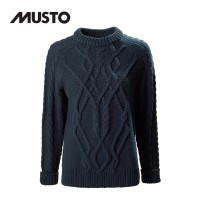Musto Hollie Chunky Cable Knit FW True Navy