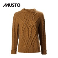 Musto Hollie Chunky Cable Knit FW Burnt Caramel