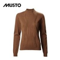 Musto Tixall Roll Neck Knit FW Burnt Caramel