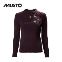 Musto Country Crew Neck Knit FW Damson