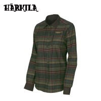 Harkila Pajala Lady LS Shirt Rosin Green Check