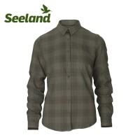 Seeland Range Lady Shirt Pine Green Check