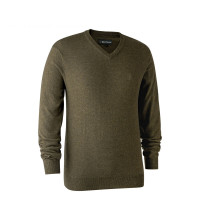 Deerhunter Kingston Knit V Neck Cypress