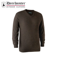 Deerhunter Kingston Knit V Neck Dark Elm