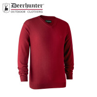 Deerhunter Kingston Knit V Neck Red
