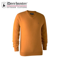 Deerhunter Kingston Knit V Neck Golden Oak
