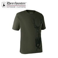 Deerhunter Deer T Shirt Bark Green