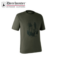 Deerhunter Shield T Shirt Bark Green