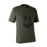 Deerhunter Shield T Shirt Bark Green