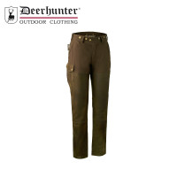 Deerhunter Lady Paris Leather Trousers Walnut