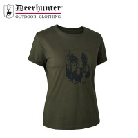 Deerhunter Lady Shield T Shirt Bark Green