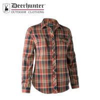 Deerhunter Lady Athena Shirt Orange Check
