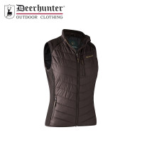 Deerhunter Lady Caroline Padded Waistcoat With Knit Dark Prune