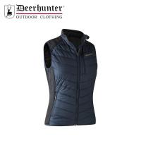 Deerhunter Lady Caroline Padded Waistcoat With Knit Dark Blue