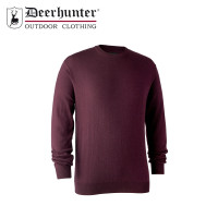 Deerhunter Kingston Knit O Neck Burgendy