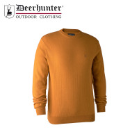 Deerhunter Kingston Knit O Neck Golden Oak