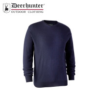 Deerhunter Kingston Knit O Neck Dark Blue