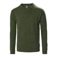 Musto Country V Neck Knit Jumper Deep Green