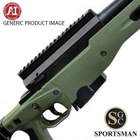 Accuracy International AT Green Std Muzzle Brake Folding Stock Left Hand