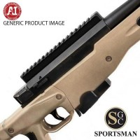 Accuracy International AT Pale brown Plain Barrel Left Hand