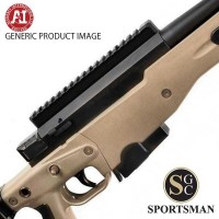 Accuracy International AT Pale brown Std Muzzle Brake Folding Stock Left Hand
