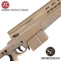 Accuracy International AXMC Pale Brown Std Muzzle Brake Left Hand
