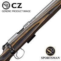 CZ 455 Stainless Thumbhole Brown/Grey 16 Inch SC .17 HMR