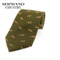 Sax Soprano Fox Printed Silk Shooting Tie