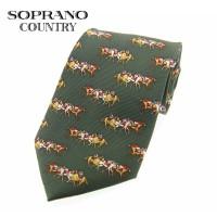 Sax Soprano Horse Racing Printed Silk Shooting Tie
