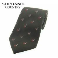 Sax Soprano Grouse Woven Silk Shooting Tie