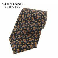 Sax Soprano Paisley Small Printed Silk Shooting Tie