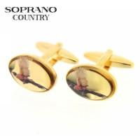 Sax Soprano Oval Cufflinks