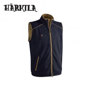 Harkila Sandhem Fleece Waistcoat Dark Navy Melange