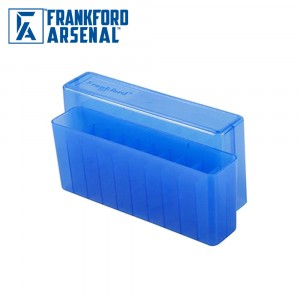 Frankford Arsenal Hinge Top Ammo Box 20 Round Blue