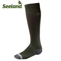 Seeland Eton Calf Lightweight Socks Dark Green